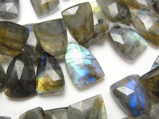 天然石卸 1連2,480円〜!ラブラドライトAA++ トライアングルカット 1連(約18cm)