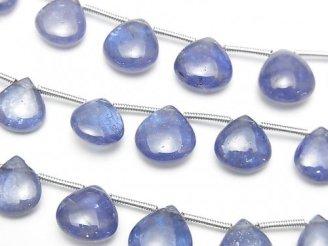 宝石質タンザナイトAAA- マロン(プレーン) 1連(約16cm)
