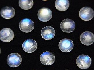宝石質レインボームーンストーンAAA- ラウンド ローズカット5×5×2.5mm 4粒1,180円!
