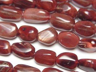 天然石卸 チベット産アンデシン(オレンジラブラドライト)AA+ タンブル 半連/1連(約38cm)