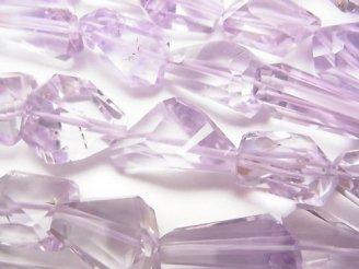 天然石卸 宝石質ピンクアメジストAAA タンブルカット 半連/1連(約38cm)