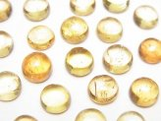 天然石卸 宝石質インペリアルトパーズAAA- ラウンド カボション7〜7.5×7〜7.5mm 4個2,980円!