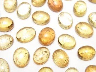 天然石卸 宝石質インペリアルトパーズAAA- オーバル カボション9〜9.5×6〜7.5mm 3個2,780円!