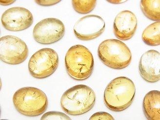天然石卸 宝石質インペリアルトパーズAAA- オーバル カボション10〜10.5×7.5〜9mm 3個3,680円!