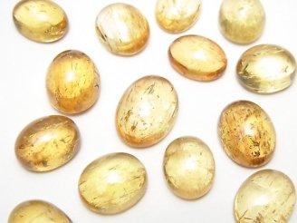 天然石卸 宝石質インペリアルトパーズAAA- オーバル カボション サイズミックス 2個3,480円!