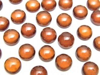 天然石卸 宝石質ヘソナイトAAA ラウンド カボション7×7mm 3個580円!