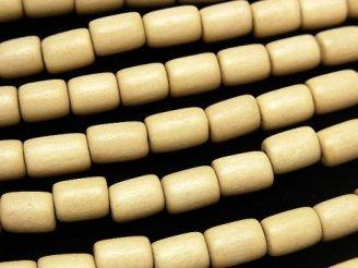 天然石卸 1連280円!ホワイトウッド チューブ9×6×6mm 1連(約36cm)