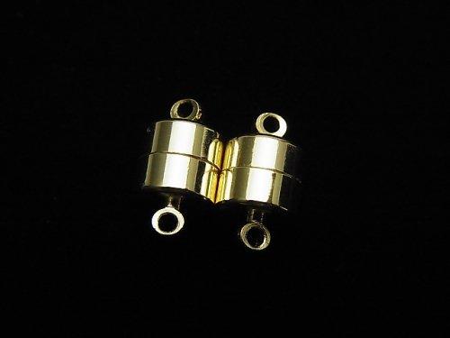 メタルパーツ 丸カン付きマグネット式 クラスプ11×6×6 ゴールドカラー 5ペア420円!