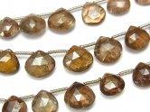 1連2,980円!宝石質アンダリュサイトAA++ マロン ブリオレットカット 1連(約18cm)