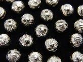 Silver925 ラウンド7mm Sライン ロジウム 2粒480円!