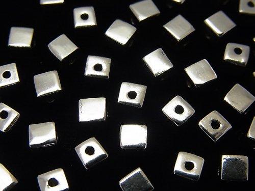 Silver925 キューブ4×4×4mm ロジウム 4粒400円!