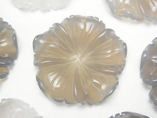 グレーオニキス フラワー(お花) 40×40×8mm 1枚580円!