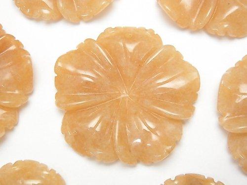 オレンジアベンチュリン フラワー(お花) 40×40×8mm 1枚580円!
