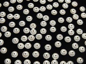 Silver925 ライン入りロンデル 4.5mm 10個380円!