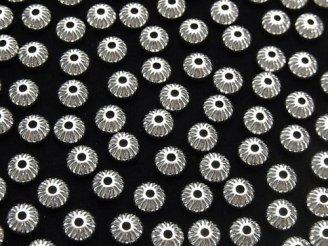 Silver925 ライン入りロンデル 5.5mm 5個380円!