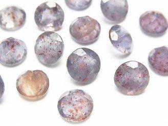天然石卸 宝石質ブラッドショットアイオライトAAA- ラウンドファセットカット8×8mm 4粒780円!