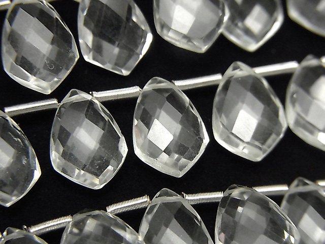 宝石質クリスタルAAA 変形マーキスカット12×8mm 半連/1連(18粒)