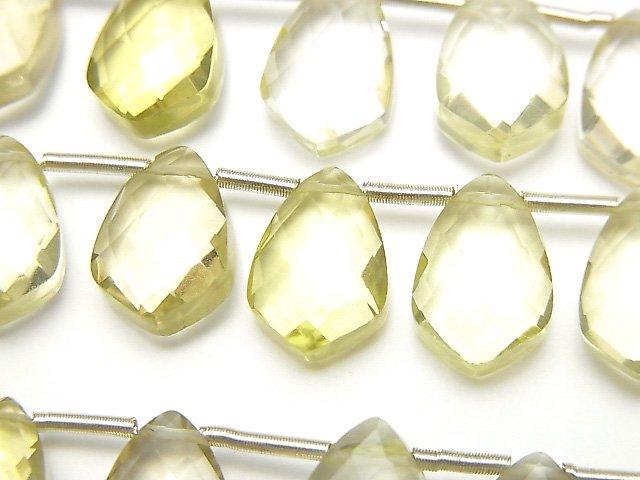 宝石質レモンクォーツAAA 変形マーキスカット12×8mm 半連/1連(18粒)