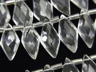 1連1,780円!宝石質クリスタルAAA- ダイヤカット16×8mm 1連(12粒)