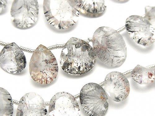 宝石質エレスチャルクォーツAA++ ミックスシェイプファセットカット 1連(20粒)