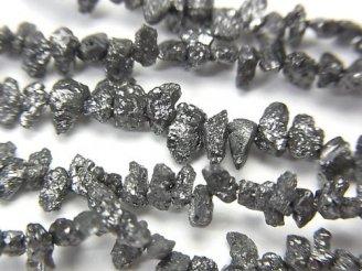 天然石卸 ブラックダイヤモンド チップ クレオ穴 半連/1連(約40cm)