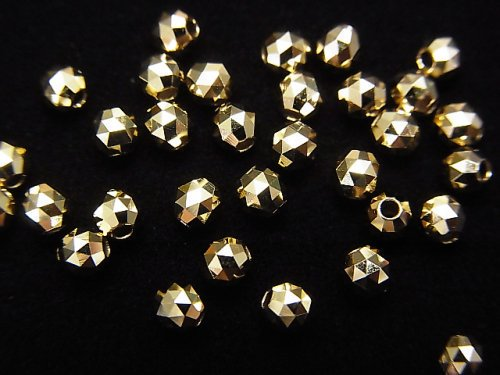 【K10 Yellow Gold】 トライアングルラウンドカットビーズ【2mm】【3mm】 1粒〜!