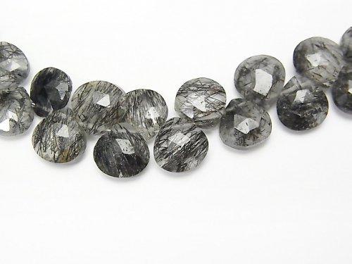 【動画】【1点もの】宝石質トルマリンクォーツAAA- マロン ブリオレットカット 1連(約19cm) NO.2