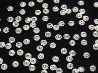 天然石卸 Silver925 ライン入りロンデル 3.3mm 20個380円!