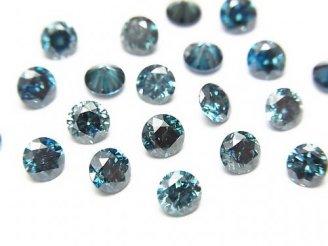 天然石卸 ブルーダイヤモンド ラウンドファセットカット4×4mm 1粒9,980円!