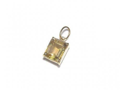 【動画】【1点もの】日本製 宝石質イエロートルマリンAAA ファセットカット ペンダントトップ 【K18 Yellow Gold】 NO.3