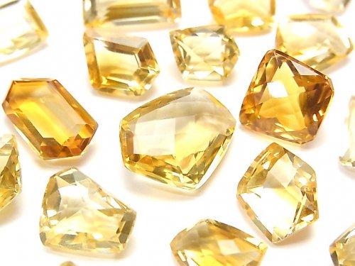 【動画】宝石質シトリンAAA 穴なしファンシーシェイプファセットカット 5粒の画像