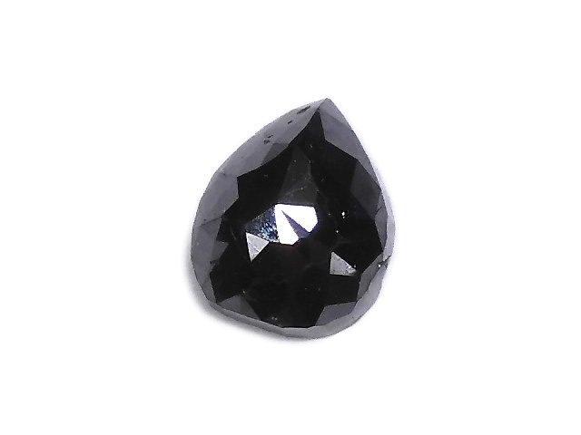 【動画】【1点もの】ブラックダイヤモンドAAA- 穴なしローズカット NO.73