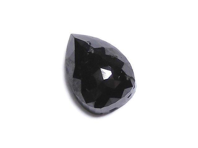 【動画】【1点もの】ブラックダイヤモンドAAA- 穴なしローズカット NO.74