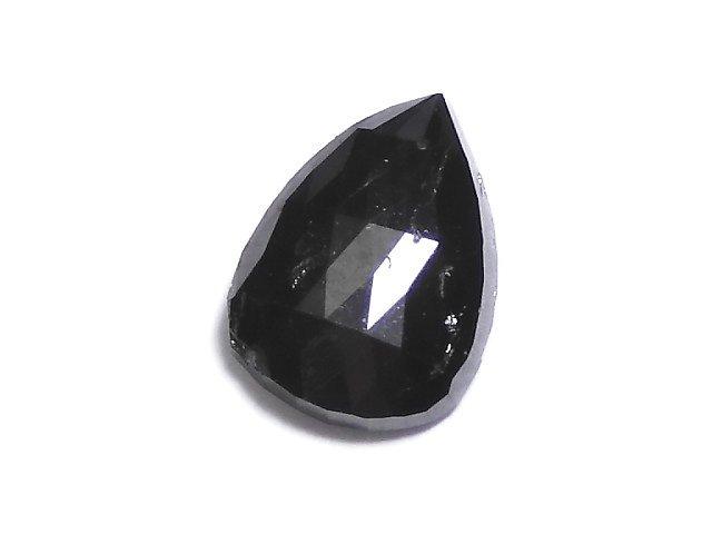 【動画】【1点もの】ブラックダイヤモンドAAA- 穴なしローズカット NO.75