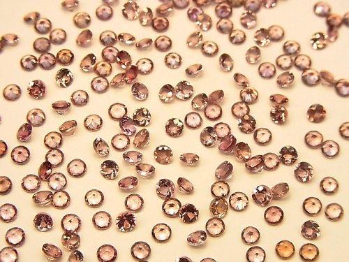 【動画】宝石質カラーチェンジガーネットAAA 穴なしラウンドファセットカット3×3mm 5粒