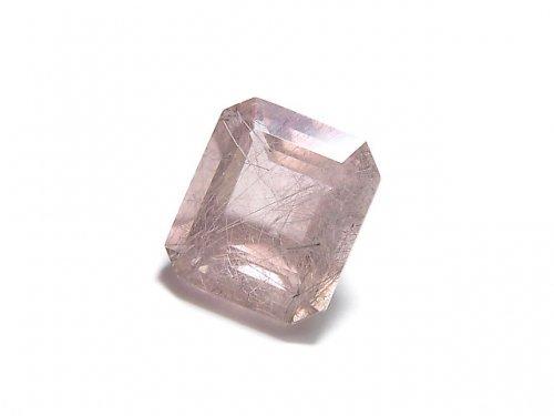 【動画】【1点もの】宝石質ピンクフローライトAAA ファセットカット(ルース) 1粒 NO.24