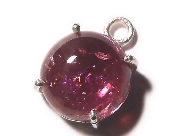 【動画】【1点もの】宝石質ピンクカラートルマリンAAA 枠留め SILVER925製 1個 NO.21
