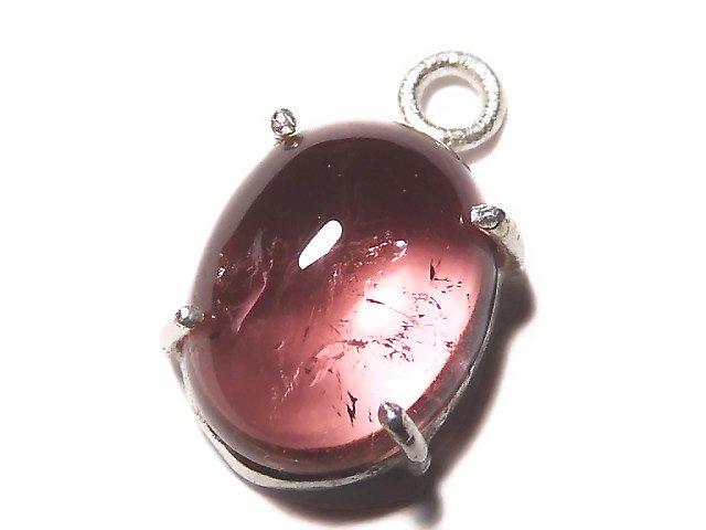 【動画】【1点もの】宝石質ピンクカラートルマリンAAA 枠留め SILVER925製 1個 NO.22