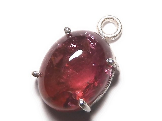 【動画】【1点もの】宝石質ピンクカラートルマリンAAA 枠留め SILVER925製 1個 NO.23