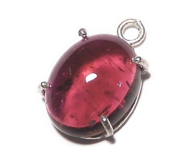 【動画】【1点もの】宝石質ピンクカラートルマリンAAA 枠留め SILVER925製 1個 NO.27