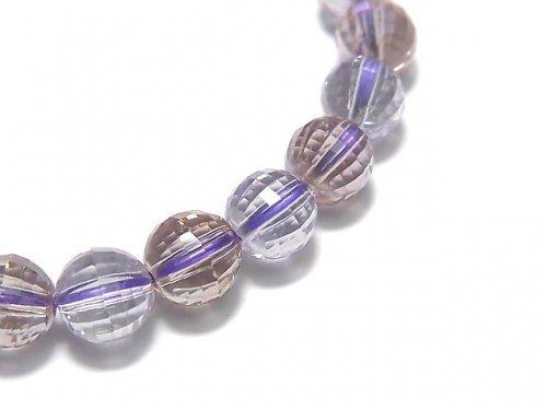 【動画】【1点もの】宝石質アメトリンAAA- ミラーラウンドカット7mm 1連(ブレス) NO.84