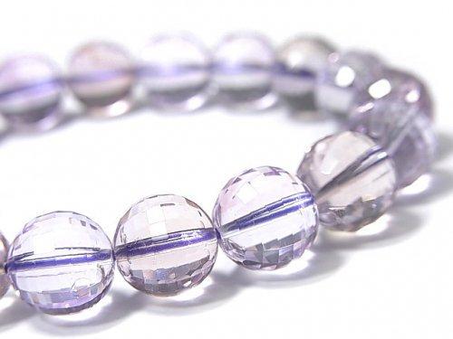 【動画】【1点もの】宝石質アメトリンAAA- ミラーラウンドカット10mm 1連(ブレス) NO.100