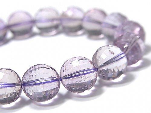 【動画】【1点もの】宝石質アメトリンAAA- ミラーラウンドカット11.5mm 1連(ブレス) NO.101