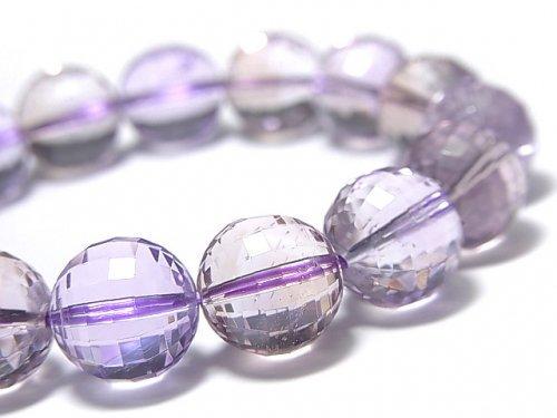 【動画】【1点もの】宝石質アメトリンAAA- ミラーラウンドカット11.5mm 1連(ブレス) NO.105