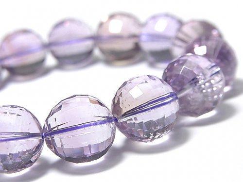 【動画】【1点もの】宝石質アメトリンAAA- ミラーラウンドカット13mm 1連(ブレス) NO.106