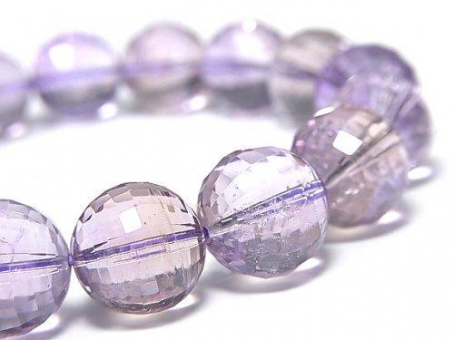 【動画】【1点もの】宝石質アメトリンAAA- ミラーラウンドカット13.5mm 1連(ブレス) NO.107