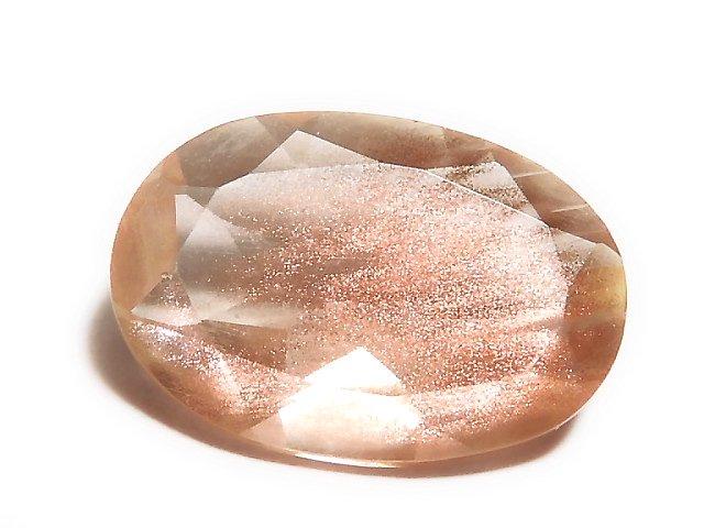 【動画】【1点もの】宝石質オレゴンサンストーンAAA ファセットカット 1個 NO.50