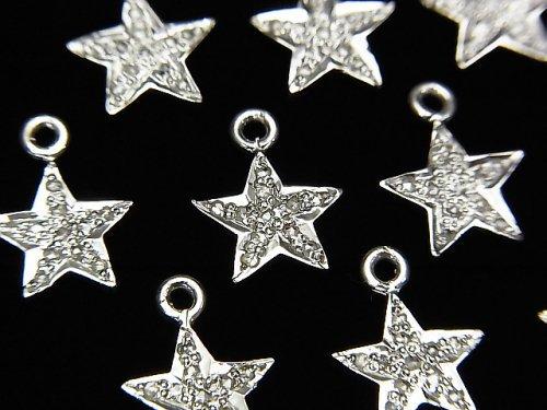 【動画】ダイヤモンド スター(星)チャーム 9×9×1.5mm SILVER925製 1個