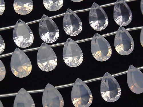 【動画】宝石質スコロライトAAA ペアシェイプ コンケーブカット12×8mm 半連/1連(8粒)
