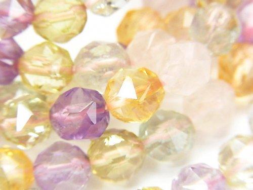 【動画】宝石質いろんな天然石AAA スターラウンドカット8mm 1連(ブレス)